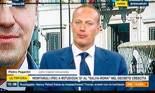 DEF Sovranista paganini rai news 24 studio 24 governo elezioni