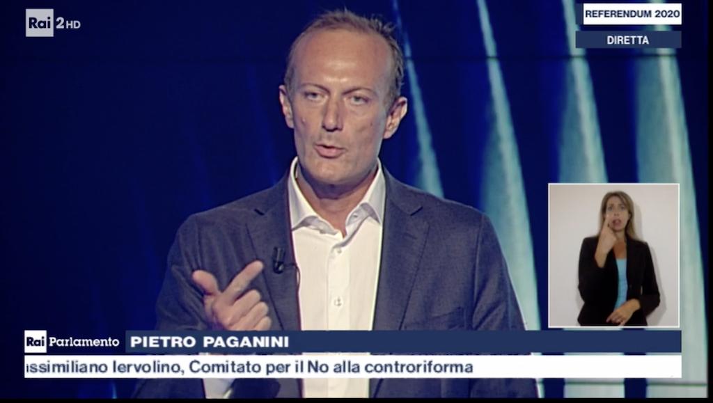 Si Tagliamo i Parlamentari- RAI Due - Pietro Paganini - paganini non ripete - rai parlamento