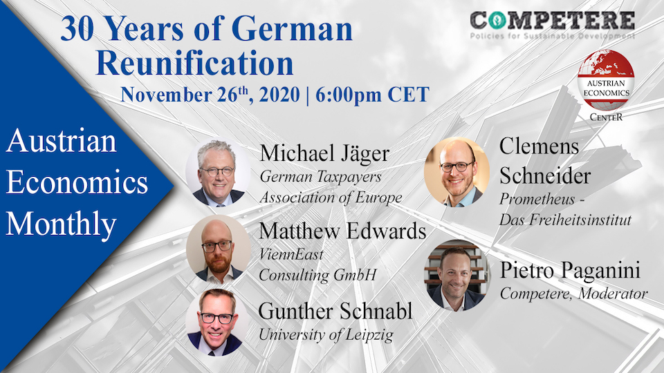 30 Years of German Reunification competere.eu austrian economics center pietro paganini non ripete