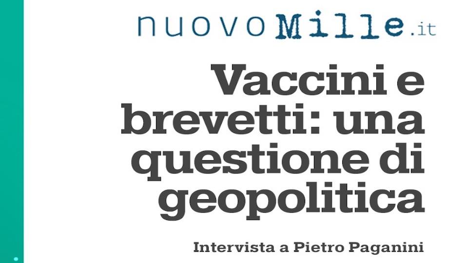 La Geopolitica dei Vaccini - Nuovo Mille PIETRO PAGANINI brevetti paganini non ripete