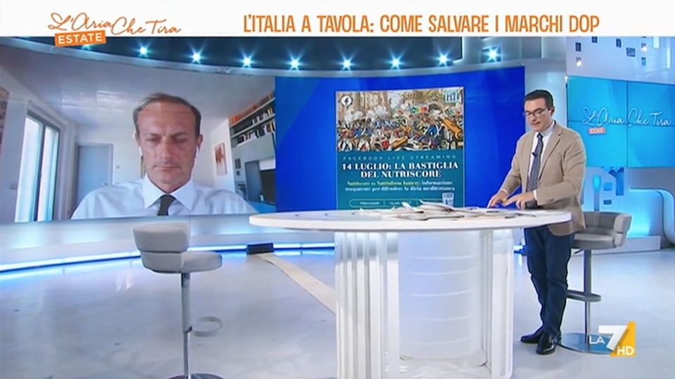 Il Nutriscore contro l'Italia - L'Aria che Tira La7 - Pietro Paganini