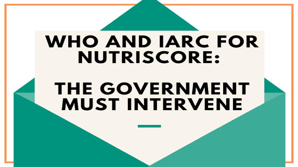 Against WHO IARC Nutriscore - Open Letter to Italian Government pietro paganini competere.eu draghi