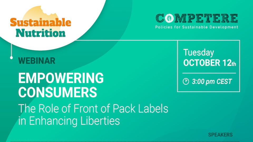 Empowering Consumers the Role of Labels Competere PIETRO PAGANINI nutriscore paganini non ripete
